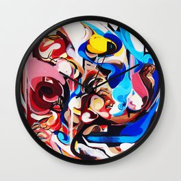Expressive Abstract People Composition painting Wall Clock