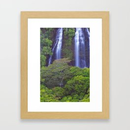 Opaekea'a Falls - Kauai  Framed Art Print