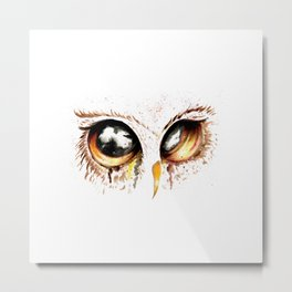 Bown owl eye Metal Print