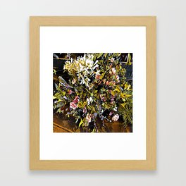 Yellow and Pink Bouquet of Flowes Framed Art Print
