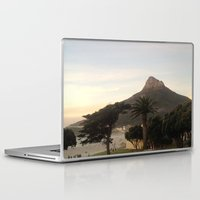south africa Laptop & iPad Skins featuring Table Mountain, South Africa by LFT designs