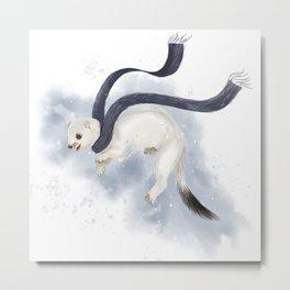 Winter Ermine Metal Print