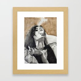 Her life had schooled her to restrain her tongue Framed Art Print