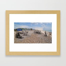 5/ Ghosts Of Rustington : The Beach by Claire Davey Framed Art Print