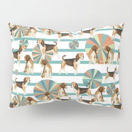 beagles at a fun fair Pillow Sham