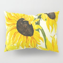 sunflower watercolor 2017 Pillow Sham