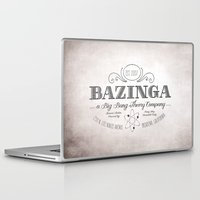 bazinga Laptop & iPad Skins featuring Bazinga Vintage by Nxolab