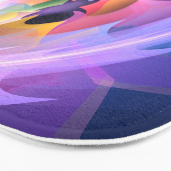Cyclone of feelings, colourful fractal abstract Bath Mat