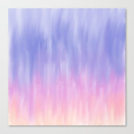 Artistic blush pink lavender watercolor ombre brushstrokes Canvas Print