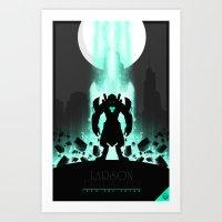 abigail larson Art Prints featuring Larson Dellinger by Oblivion Creative