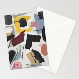 Large Collage With Paint 1 Stationery Cards