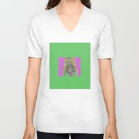 wes anderson V-neck T-shirts featuring Pamela Anderson by Dora Birgis
