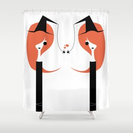 1 O'Clock Love Affair Shower Curtain