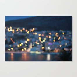 Croatian Bokeh  Canvas Print