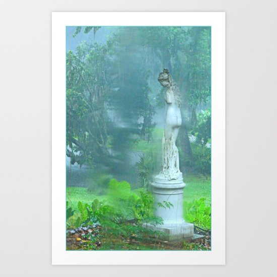 Standing in the Rain Art Print