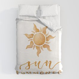 Sun Summoner Duvet Cover