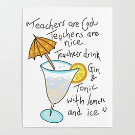 Teachers are cool , education poetry Poster