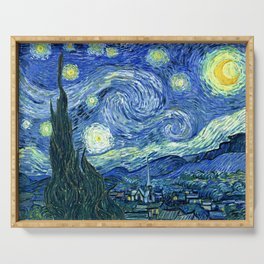 Vincent van Gogh Starry Night 1889 Serving Tray