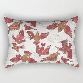 Snowy Cardinals Rectangular Pillow