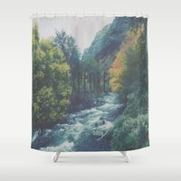 explore Shower Curtains featuring Explore by Hannah Kemp