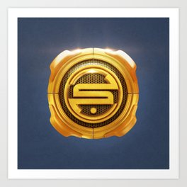 Golden S 3D Emblem Art Print