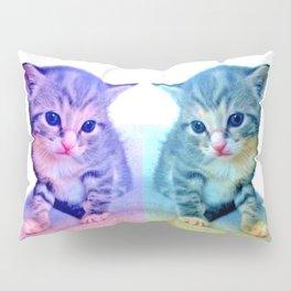 Cute Colorful Cat Couple Pillow Sham