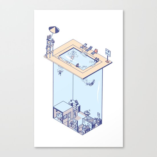 The Office Pool Canvas Print