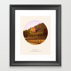 i think of you in colors that don't exist Framed Art Print