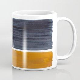 Minimalist Mid Century Modern Colorful Color Field Rothko Navy Blue Yellow Ochre Coffee Mug