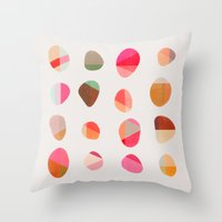 Throw Pillows featuring Painted Pebbles 5 by Garima Dhawan