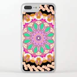 mandala wheel Clear iPhone Case