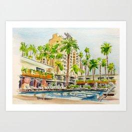 The Hollywood Roosevelt Pool Art Print