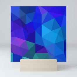 Sapphire Low Poly Mini Art Print