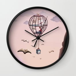 A Very Bookish Adventure Wall Clock