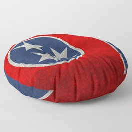 Tennessee State flag, Vintage version Floor Pillow