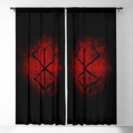 Black Marked Berserk Blackout Curtain