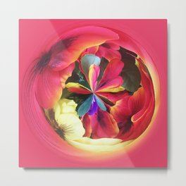 306 - Flower Fruit Abstract Design Metal Print