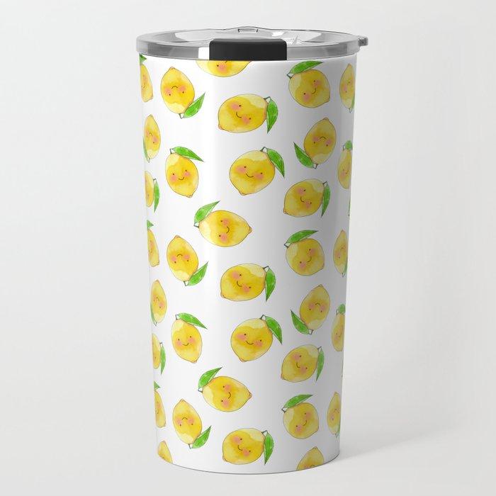 Little yellow lemon Travel Mug
