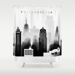 Philadelphia graphic work Shower Curtain