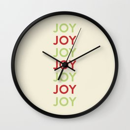 Joy! Wall Clock