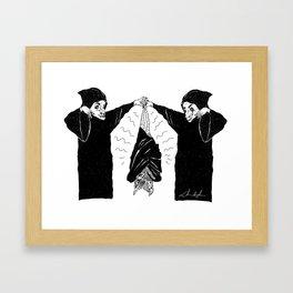 HANG BAT Framed Art Print