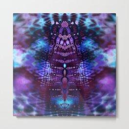 Luscious Blue and Purple Tie Dye Fractal Metal Print
