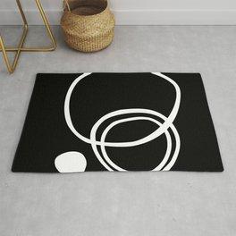 Black and White Art, Minimalist, Line Art Rug