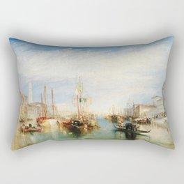 Joseph Mallord William Turner - Venice, from the Porch of Madonna della Salute Rectangular Pillow