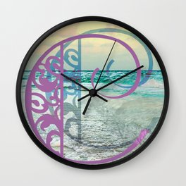 Letter C by the Sea Wall Clock