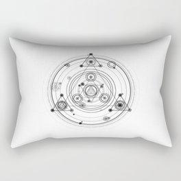 Sacred geometry magic circles Rectangular Pillow