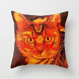 Orange Tabby Throw Pillow