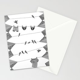 Clothing Line Stationery Cards