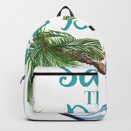 Save the Date hammock on a palm Backpack