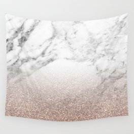 Marble sparkle rose gold Wall Tapestry